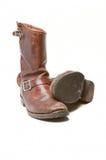 Oude bruine laarzen Stock Afbeelding