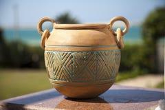 Oude Bruine Pot Stock Foto