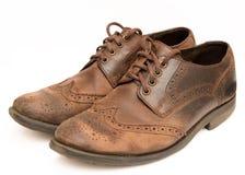Oude bruine schoenen Royalty-vrije Stock Fotografie