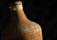 Oude bruine waterkruik Stock Foto