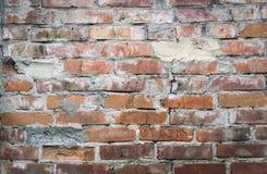 Oude bruine witte bakstenen muur Royalty-vrije Stock Afbeelding