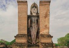 Oude Buddhas Sukhothai in Historische het Park eerste hoofdstad van Sukhothai van Thailand stock foto