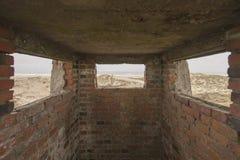 Oude bunker royalty-vrije stock fotografie