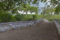 Oude Burnside-Brug bij het Nationale Slagveld van Antietam Stock Afbeelding