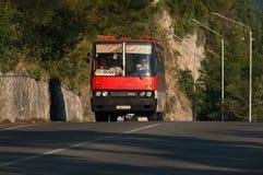 Oude bus, Gagra, Abchazië royalty-vrije stock afbeeldingen