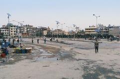 Oude buspark van Katmandu 2016 Royalty-vrije Stock Foto