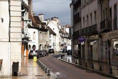 Oude buurten Dijon met huizen vele honderd jaar oud Royalty-vrije Stock Afbeeldingen
