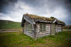 Oude cabine in Noorwegen. Stock Foto's