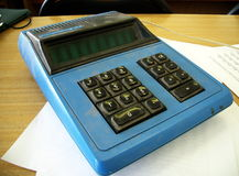 Oude Calculator royalty-vrije stock foto