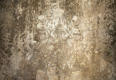 Oude Cambodjaanse Gravure Royalty-vrije Stock Afbeeldingen