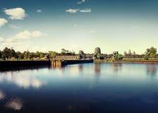 Oude Cambodjaanse Tempelruïne Angkor Wat Rural Concept Royalty-vrije Stock Afbeelding