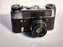 Oude camera de grondbeginselen van fotografie in middelbare school royalty-vrije stock foto