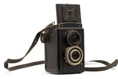 Oude camera met een riem Royalty-vrije Stock Fotografie