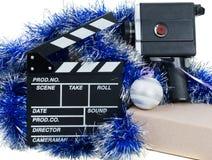 Oude camera met klep voor film op ornamenten Stock Foto's