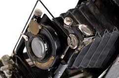 Oude camera op de witte achtergrond Royalty-vrije Stock Foto's