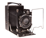 Oude camera op een witte achtergrond royalty-vrije stock fotografie