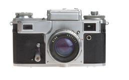 Oude camera op een witte achtergrond stock foto
