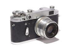 Oude camera op witte achtergrond Stock Fotografie