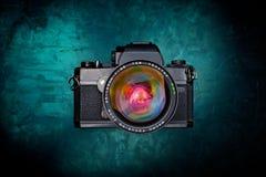 Oude camera van hoogste mening Stock Foto
