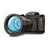 Oude camera vectorillustratie Stock Afbeeldingen