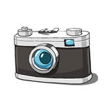 Oude camera vectorillustratie Stock Afbeelding
