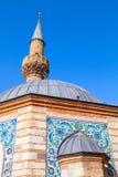 Oude Camii-moskee, voorgevelfragment Izmir, Turkije Stock Foto