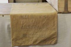Oude canvas postzakken Stock Fotografie