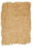 Oude canvastextuur die op wit wordt geïsoleerd Royalty-vrije Stock Afbeelding