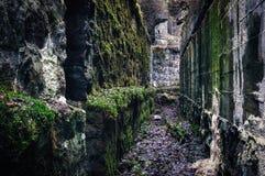 Oude catacomben Stock Afbeeldingen
