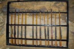 Oude Catacomben Odessa Stock Foto