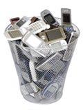 Oude cellphones stock afbeelding