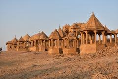 Oude cenotaaf in bada baag Jaisalmer Rajasthan India stock foto