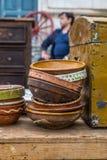 Oude ceramische potten Royalty-vrije Stock Afbeeldingen