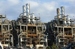 Oude Chemische Fabriek Royalty-vrije Stock Foto's