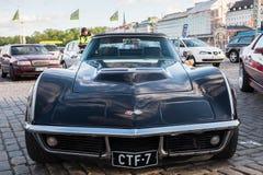 Oude Chevrolet het Korvetpijlstaartrog van Helsinki, Finland Stock Foto