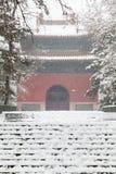 Oude Chinese architectuur in de winter Royalty-vrije Stock Foto's