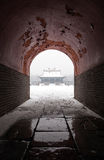 Oude Chinese architectuur in de winter Stock Foto's