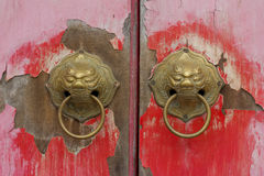 Oude Chinese deur royalty-vrije stock fotografie