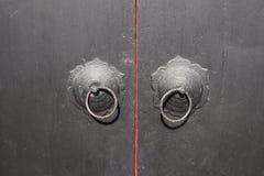 Oude Chinese deur koncker royalty-vrije stock foto's