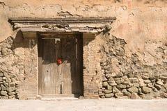 Oude Chinese deuropening Stock Foto