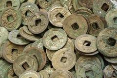 Oude Chinese muntstukken royalty-vrije stock fotografie