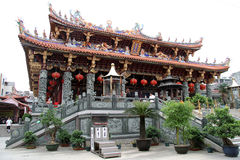 Oude Chinese tempel Stock Afbeelding