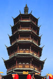 Oude Chinese tempeltoren Stock Foto's