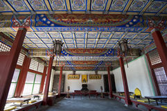 Oude Chinese woonkamer Stock Foto's