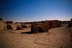 Oude Christelijke begraafplaats Gr Bagawat, Kharga-oase, Egypte royalty-vrije stock foto's