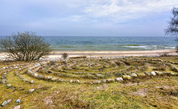 Oude cirkeltekens op Zweedse kust Royalty-vrije Stock Foto's