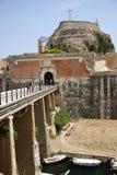 Oude citadel in de Stad van Korfu (Griekenland) Stock Foto's