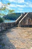 Oude citadel en wiew van zijn muren aan het Adriatische overzees Stock Afbeelding