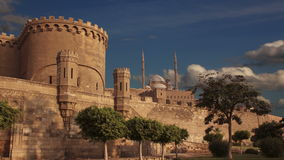 Oude citadel van Kaïro Egypte Geschoten op Canon 5D Mark II met Eerste l-Lenzen stock footage