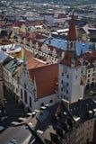 Oude cityhall in München stock fotografie